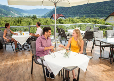 Ausblick in die Wachau von der Terrasse